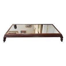 Early 20th Century American Mahogany Mirrored Footed Tray