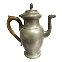 Early 20th Century Belgian Robert Pompe Pewter Camel Spout Pitcher