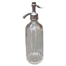 Circa 1910 New Orleans Ozone Company Glass Seltzer Bottle Made in Czechoslovakia