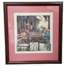 "Jack R. Miller - ""The Game of Life"" Limited Edition Signed Hand Colored Engraving (#39/250) (1986) (New Orleans)"