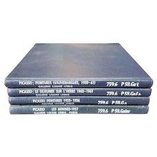 Group of 4 Vintage Pablo Picasso Galerie Louise Leiris Art Catalog Books (1955-1961)
