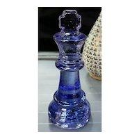 Mitchell Gaudet Art Glass Purple King Chess Piece Sculpture (New Orleans)