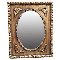 Mid 20th Century Dutch Gilded Wooden Frame Wall Mirror