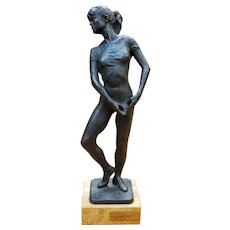 Josep Bofill Moline, Ballerina Electroplated Bronze Composite Sculpture (Limited Edition #218/3999) (Spain) (20th Century)