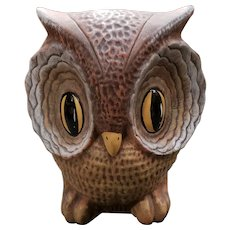 Vintage New Orleans Dryades Savings Bank Ceramic Hootie Owl Bank (Ain't Dere No More)