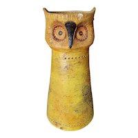 Mid Century 1960's Italian Bittosi Rosenthal-Netter Clay Owl Sculpture