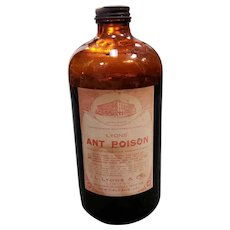 Mid 20th Century New Orleans I.L. Lyons & Co. Ant Poison Bottle