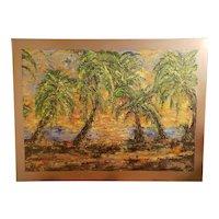 Mexican K38 Surf Spot Baja Beach Oil Painting on Canvas (21st Century)