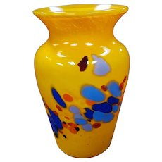 1999 Lost Angel Art Glass Vase by Joel O'Dorisio