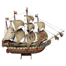 Mid 20th Century Model of 1541 German Hanseatic League Warship