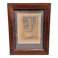 Circa 3rd Quarter 19th Century Ink and Wash Reproduction of a 1781 Bernardo de Galvez Print