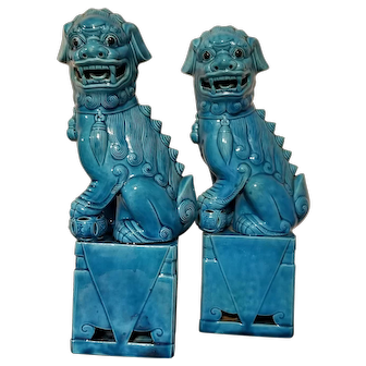 Chinese foo dogs set