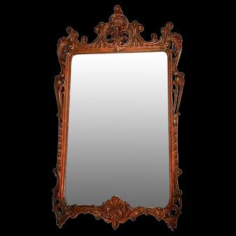 Mahogany Victorian style mirror