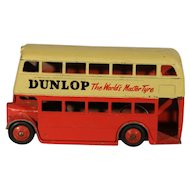 Dinky Toys Double Decker Bus with Dunlop Advertising