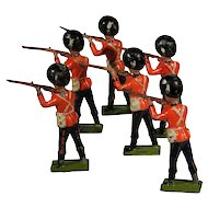 Britains Lead Toy Soldiers Grenadier Guards Firing from Set 34