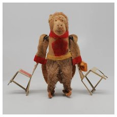 Vintage Wind up Monkey Acrobat with Chairs Made in Japan