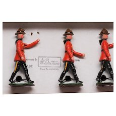 Vintage Britains Set 1554 RCMP Mounties Dismounted