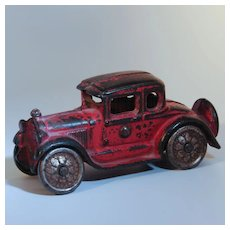 AC Williams Cast Iron 4 inch Ford Coupe 1920s to 30s