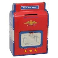 Ohio Arts Tin Litho Postal Mail Box Still Bank