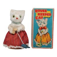 Cute Wind Up House Keeper Cat MM Japan