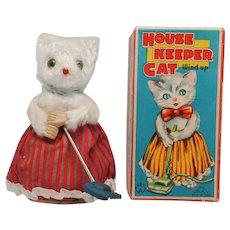 Cute Wind Up House Keeper Cat MM Japan