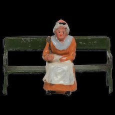 Britains 556 Aged Villager Woman with 017 Park Seat