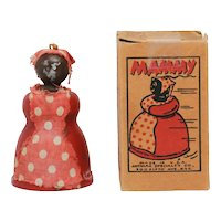 Vintage Jaymar Wood Mammy Toy with Box Black Americana Memorabilia
