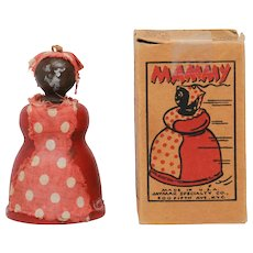 Vintage Jaymar Wood Mammy Toy with Box Black Americana Memorabilia