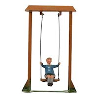 Britains 619 Lead Boy On Swing Near Mint