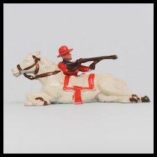 Johillco John Hill Co Cowboy Firing Behind Lying Horse