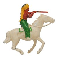 Johillco John Hill Co Indian Chief on Horse with Gun