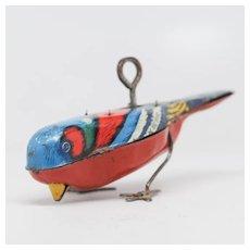 Tin Litho Wind-Up Pecking Bird  Patented 1927