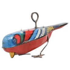 Tin Litho Wind-Up Pecking Bird  Patented 1927
