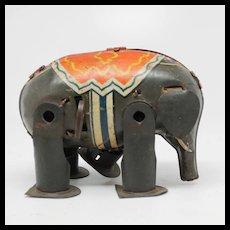 Vintage Tin Litho Wind-up Elephant