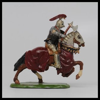 Britains Knight of Agincourt with Axe - a Splendid Metal Figure