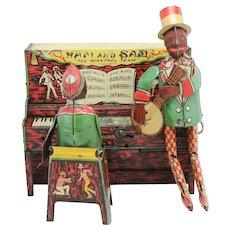 Vinttage Ferdinand Strauss Ham and Sam The Minstrel Team Tin Band Black Americana