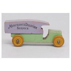 Strombecker Merchants Delivery Service wooden van circa 1935