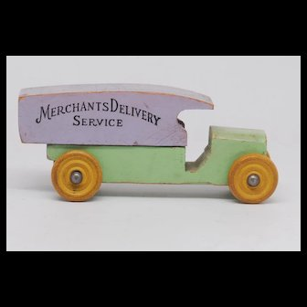 Strombecker Merchants Delivery Service wooden van circa 1935