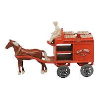 Matchbox Horse Drawn Milk Float 7A Metal Wheels