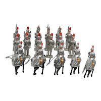 17 Metal Toy Knights Sonsco/ALPS  Early Post War JAPAN
