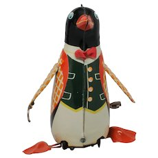 Marusan Kogaku Penguin Tin Litho Wind Up