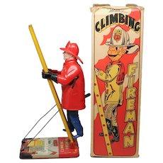 Marx Wind Up Climbing Fireman