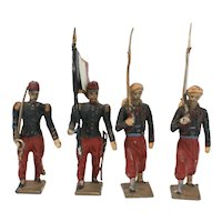 Mignot Zouaves 1914 Color Party Vintage French Toy Soldiers