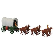 Early Lesney Covered Wagon with Six Horses from the makers of Matchbox