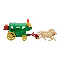 Vintage Hardy Stage Plastic Stage Coach and Horses