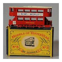 Matchbox Models of Yesteryear Y3-1 1907 London Tram Car