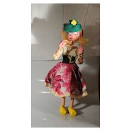 Vintage Pelham Puppet Marionette Mitzi
