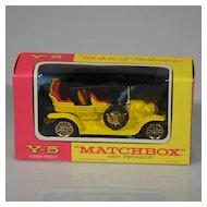 Vintage Lesney Matchbox Yesteryear Y-5 1907 Peugeot