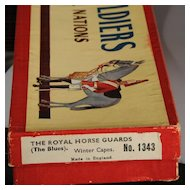 Britains Lead Soldiers #1343 The Royal Horse Guards (The Blues) Winter Coats