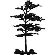 Britains Fir Tree Nbr 524 Pre-war lead farm or garden model